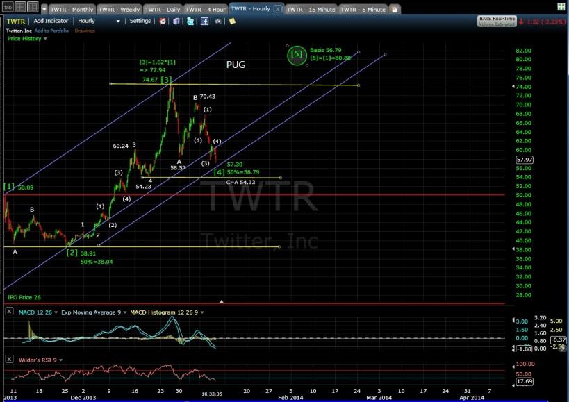 PUG TWTR 60-min chart MD 1-9-14
