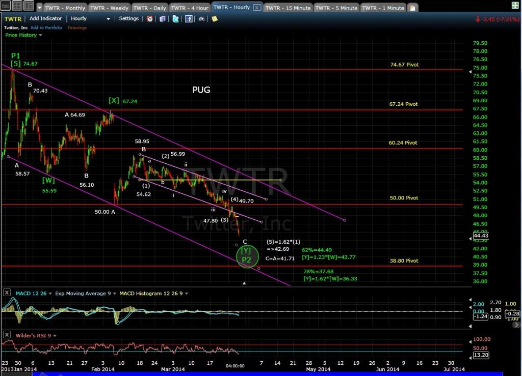 PUG TWTR 60-min chart 3-26-14