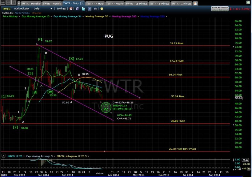 TWTR daily chart 3-18-14