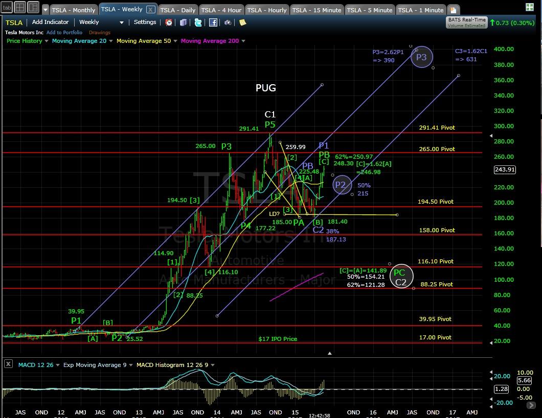 PUG TSLA weekly chart MD 5-14-15