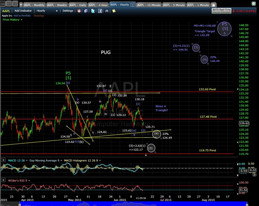 PUG AAPL 60-min chart MD 6-15-15
