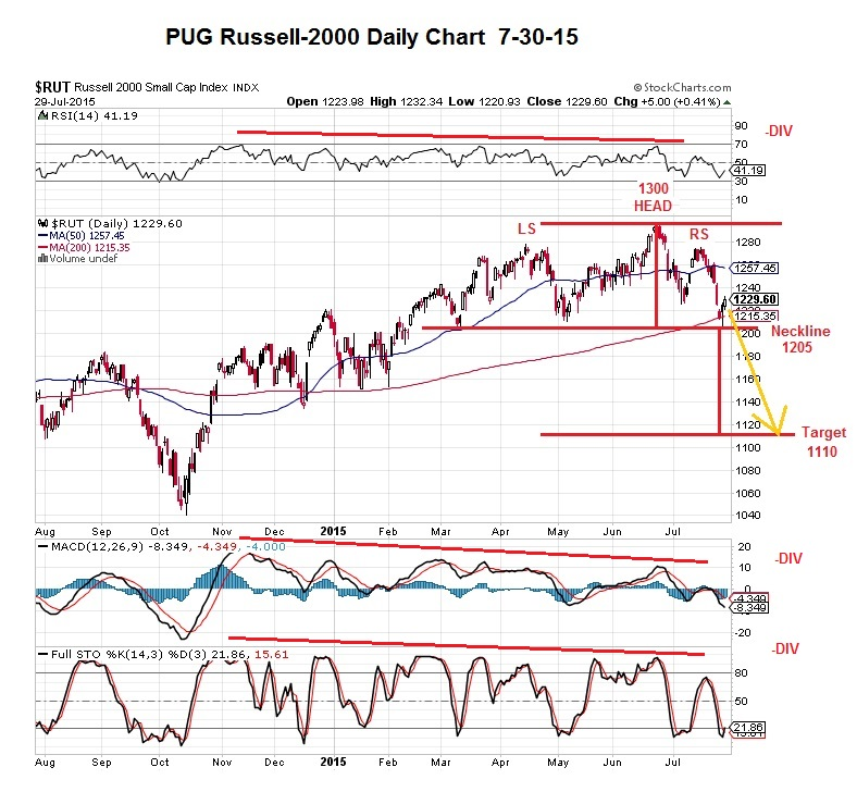 PUG RUT-2000 daily indicators 7-30-15